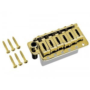 Gotoh Tremolo Vintage Steel Saddle & Block Gold 56mm