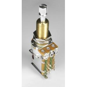 Bourns Audio Push-Push Pot Split Shaft 500K Extra Long