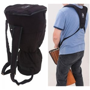 14'' DJEMBE BAG & SHOULDER HARNESS PACK BLACK