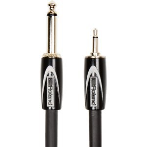 "Roland Cable Black Series 1/4"" TS - 1/8"" TS 1.5m"