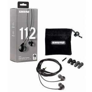 Shure SE112GR Grey- Professional Sound Isolating In-ear