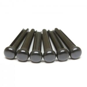 Tusq Bridge Pins Black Traditional With no Inlay PP 2100-01