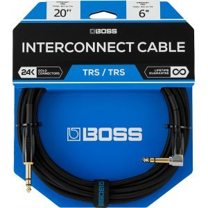 "Boss Cable 1/4"" TRS Straight - 1/4 TRS Angle 1m"