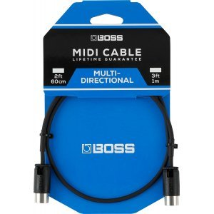 Boss Midi Cable with Multi-Directional Connectors 1m