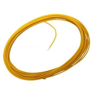 Cloth Wire Vintage Style Yellow 7.5m