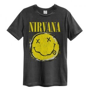 Amplified T-Shirt Nirvana - Worn Out Smiley (ZAV210DNS)