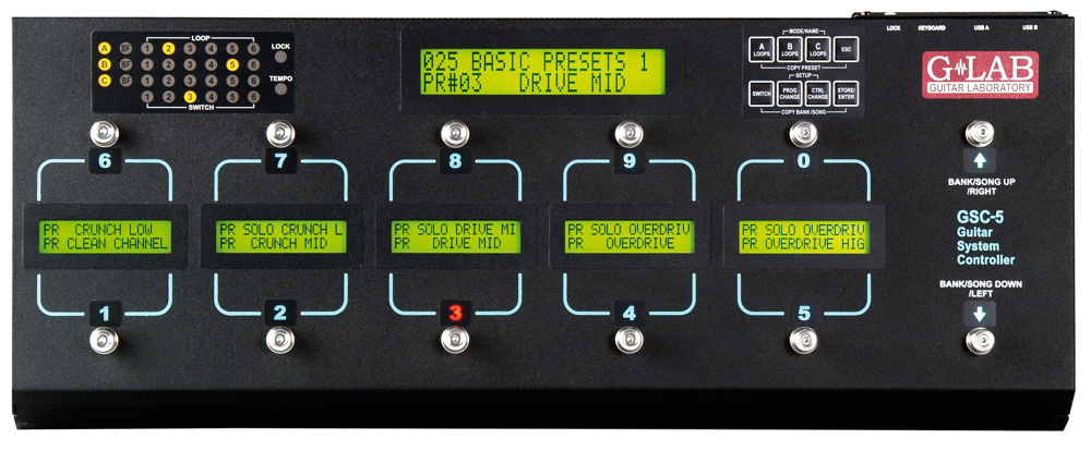 G Lab Gsc 5 Guitar System Controller